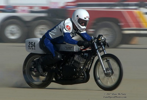 Worlds Fastest RD250 at El Mirage Dry Lake
